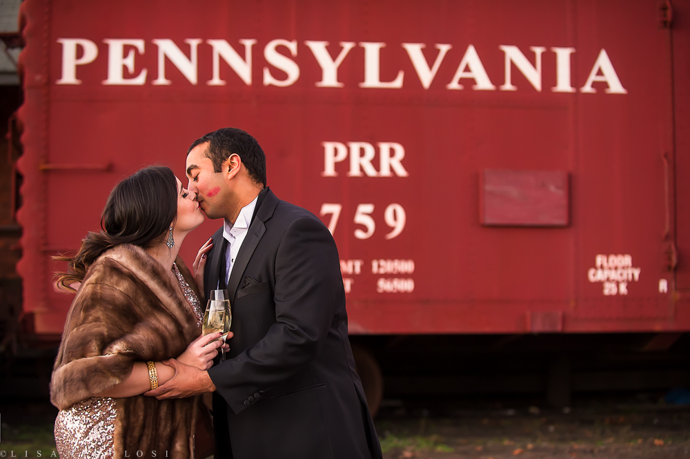 Greenport Engagement Session - North Fork Photographer -LIRR Museum