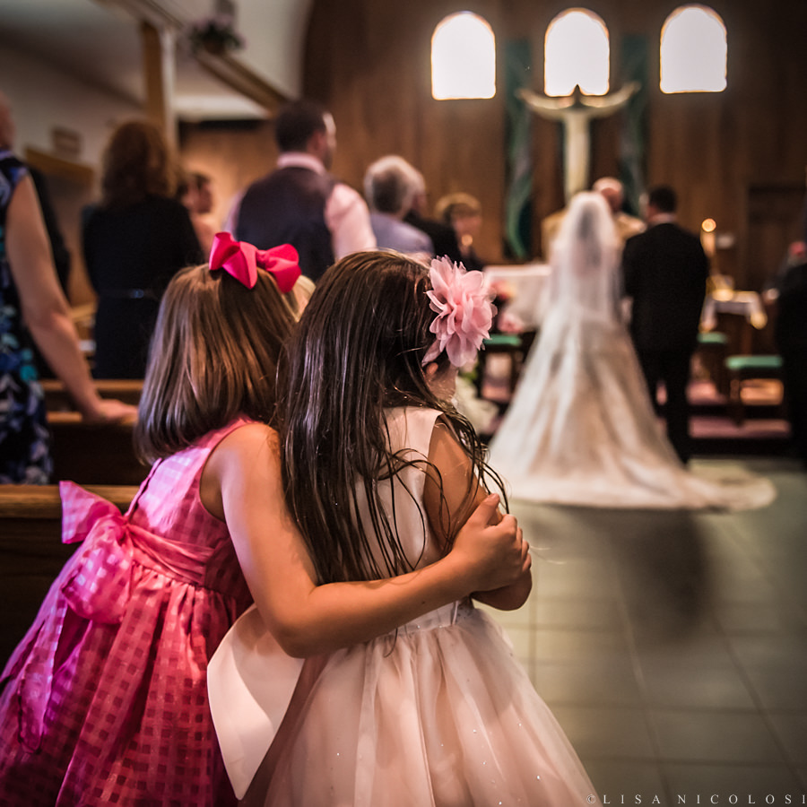 Excited children to see the bride at Long Island Wedding Ceremony