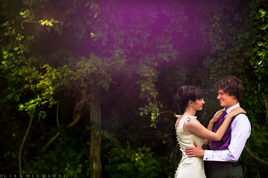 Shelter Island Wedding -East End Wedding Photographer- bride and groom portrait after their first look