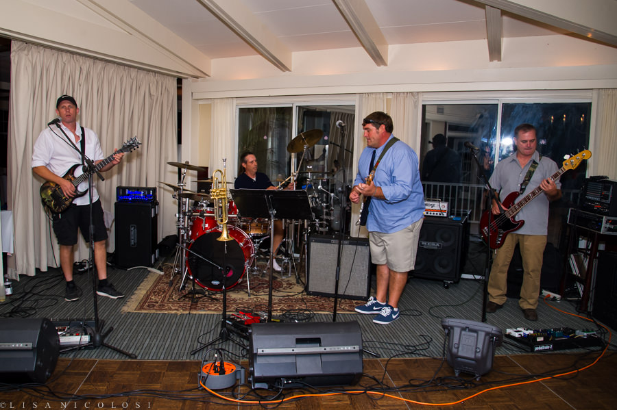 The Realm Band playing at a Shelter Island Wedding at The Pridwin Hotel