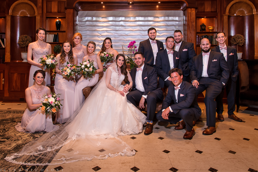 Wedding in the Somerley Room at Fox Hollow in Woodbury NY - Bridal Party