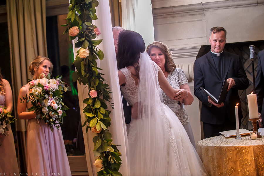 Wedding Ceremony in The Somerley Room at Fox Hollow - Fox Hollow Wedding Photographer