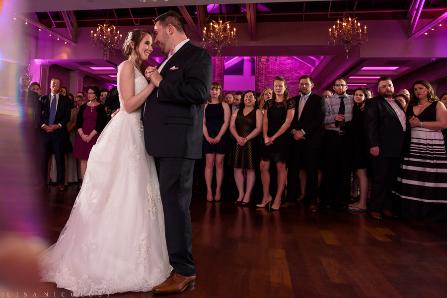 Wedding in The Somerley Room at Fox Hollow - Fox Hollow Wedding Photographer - Bride and Groom First Dance