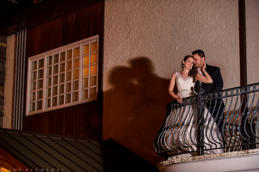 Fox Hollow Wedding Photos at The Somerley Room - Bride and Groom wedding Portrait at night