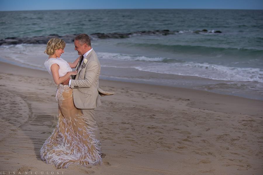 Oceanbleu Wedding Photographer - Westhampton Beach - East End Wedding Photographer - Bride and Groom on Beach
