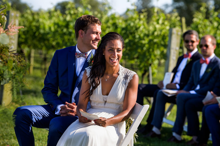 Wolffer Estate Wedding Photographer - East End Hamptons Wedding Photographer - Wedding Ceremony - Sagaponack