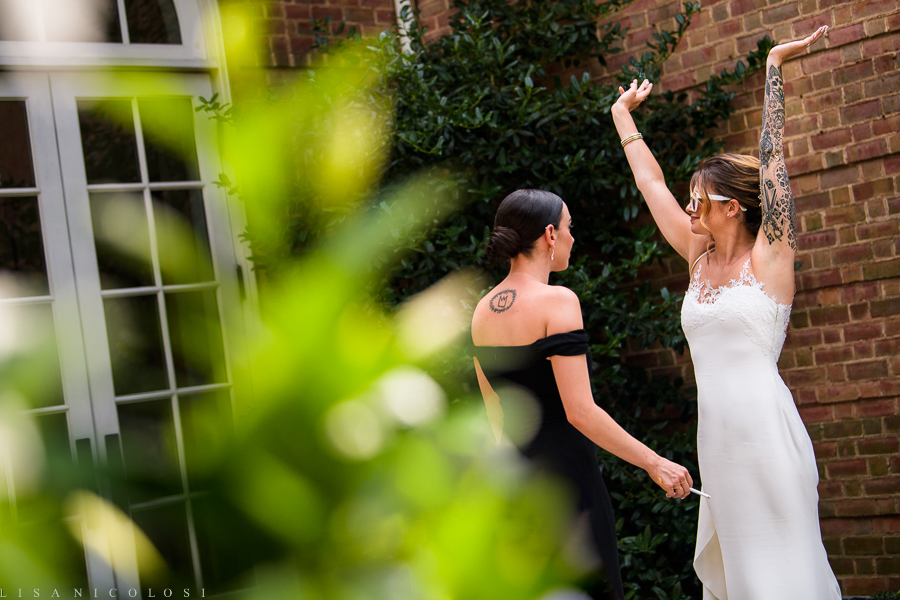 Bride and her Bridesmaid - New York Botanical Garden Wedding Photographer