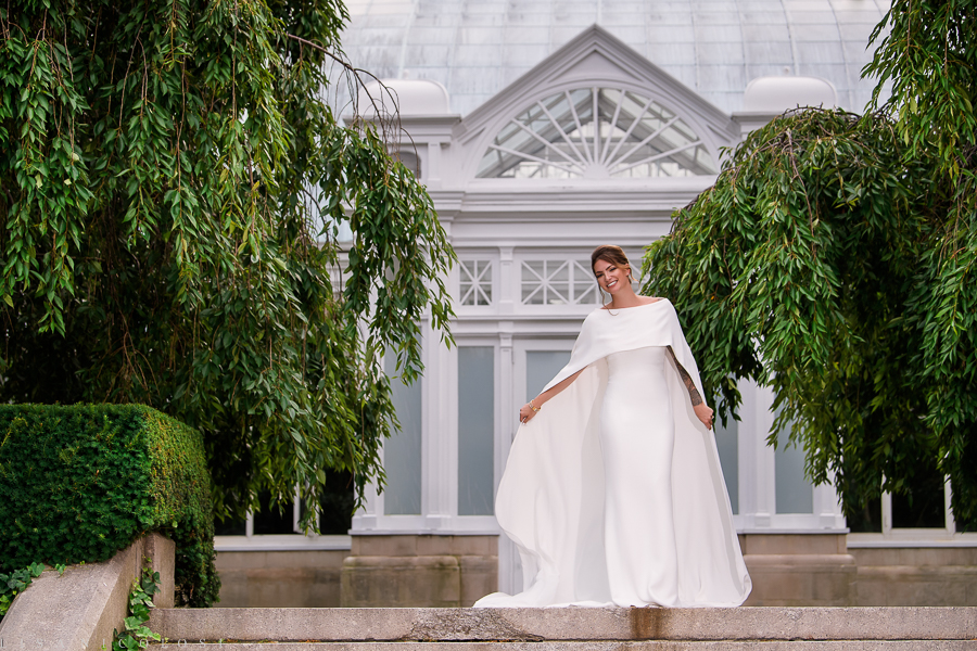 Bride Portrait at New York Botanical Garden - New York Botanical Garden Wedding Photographer - NYBG Weddings