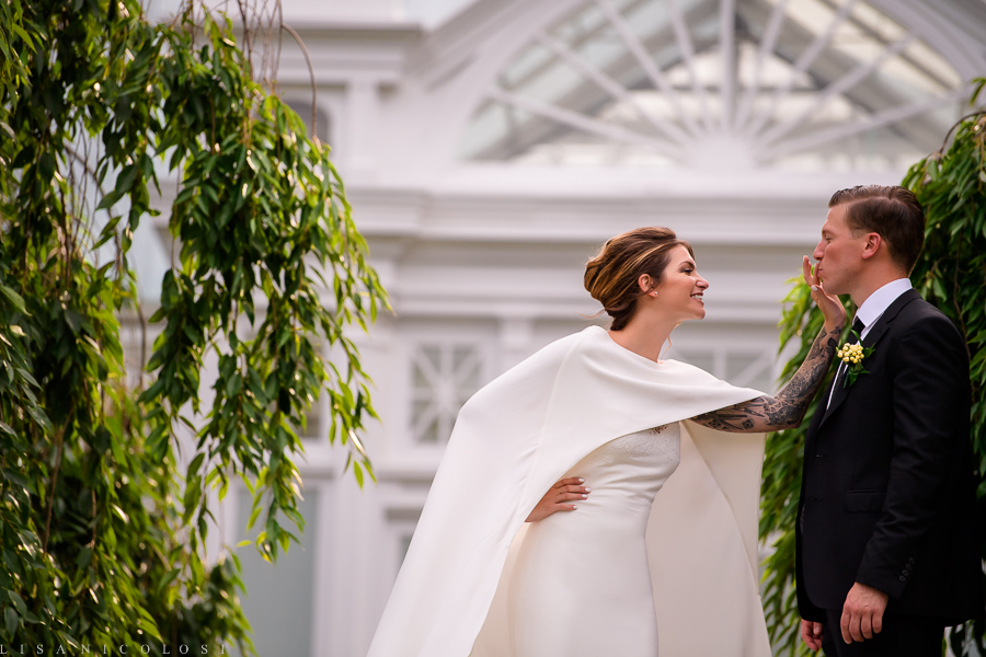 Bride and Groom Portrait at New York Botanical Garden - New York Botanical Garden Wedding Photographer - NYC Wedding Venue