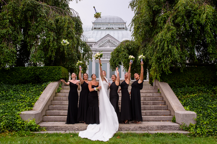 New York Botanical Wedding Photographer - New York Botanical Wedding Photography -Bridal Party