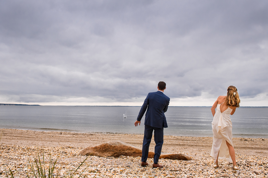 Sebonack Golf Club Wedding Photos - East End Wedding Photographer - Southampton Wedding - Portrait of bride and groom
