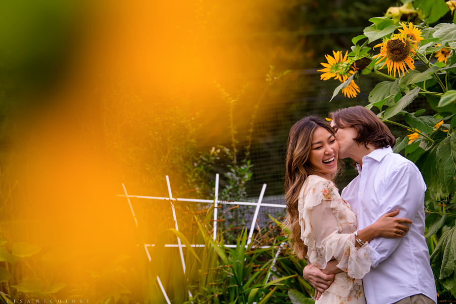 Shelter Island Wedding Photographer - North Fork Wedding Photographer Sunflowers Engagement Session -Long Island NY East End Wedding Photographer