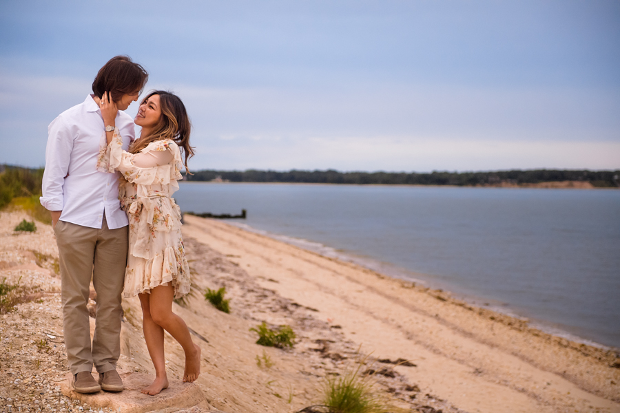Shelter Island Wedding Photographer - East End Engagement Session - Natural Engagement Portraits