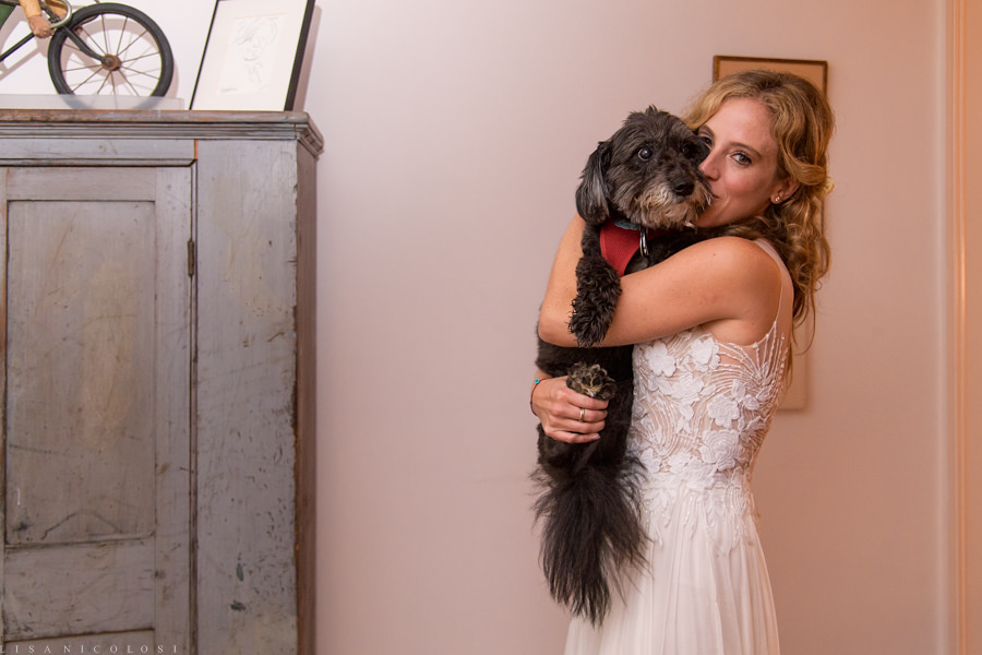 Hamptons Wedding Photographer- East End Wedding Photographer - Bride and her Dog