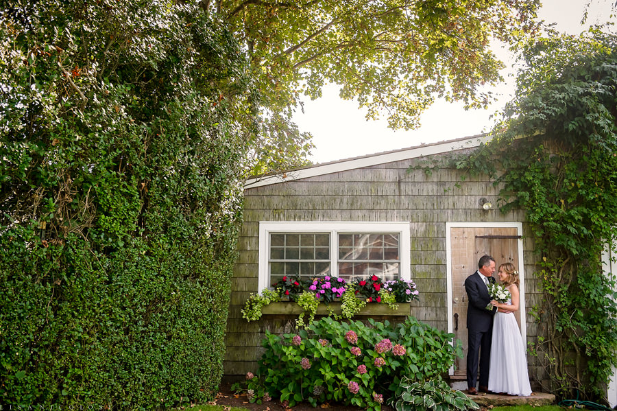 Intimate Backyard Hamptons Wedding - East End Wedding Photographer - Bride and Groom Portrait