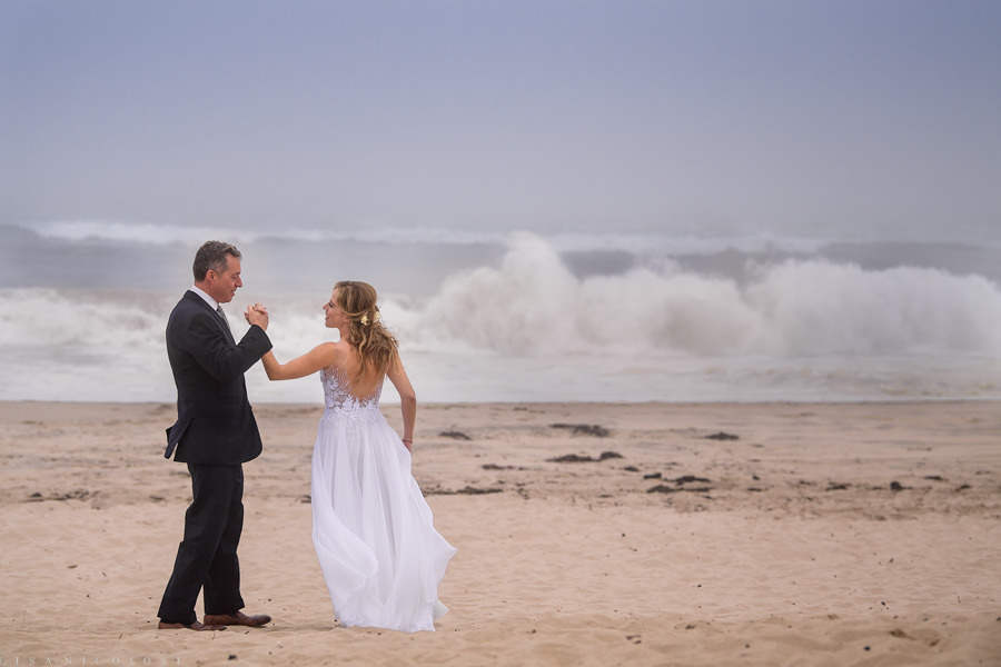 Hamptons Wedding Photographer- East End Wedding Photographer - Bride and Groom Romantic Portraits on the Beach