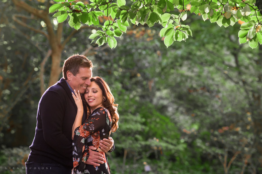 Planting Fields Arboretum Engagement Session Portraits - New York Fall Engagement Session - Couple Hugging