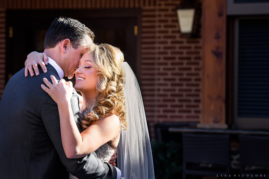 NJ Wedding Photographer - Bride and Groom First Look at The Madison - Riverside NJ