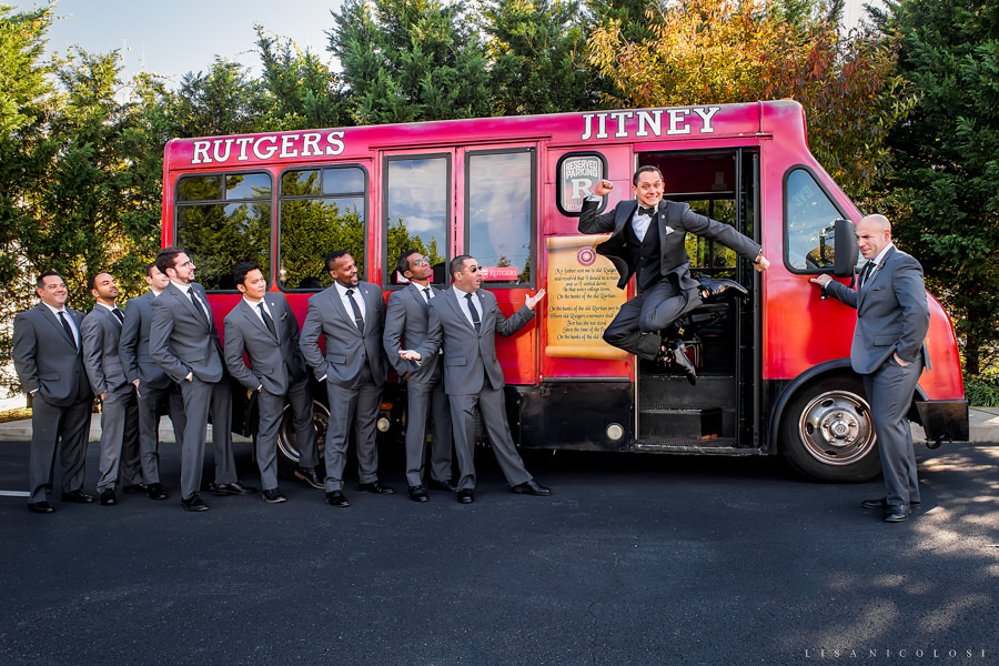 NJ Wedding Photographer - Rutgers Wedding - Groom jumping -The Madison - NJ Wedding Photography