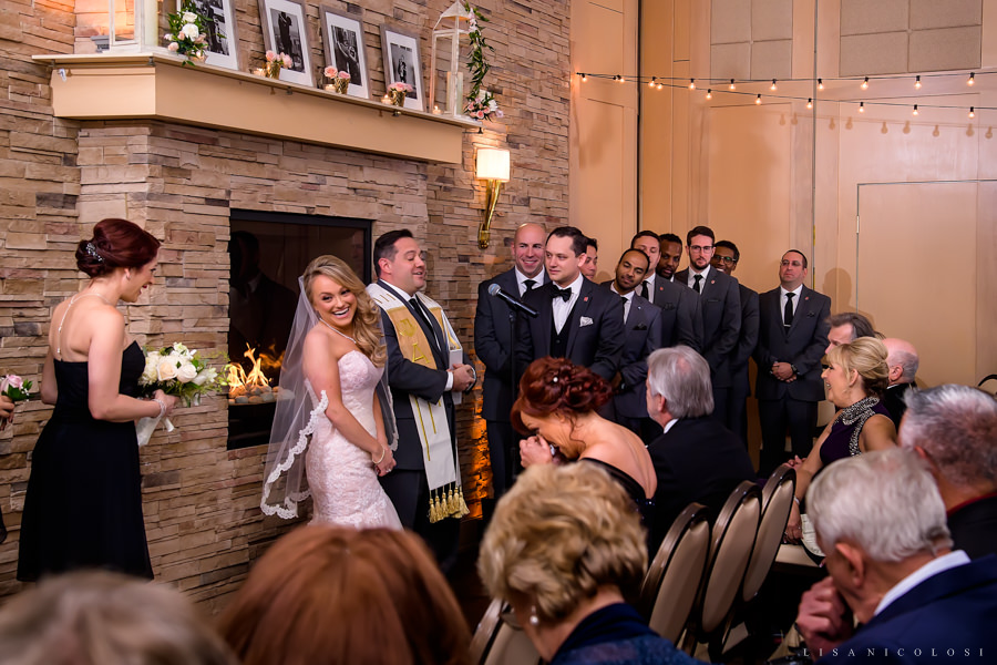 NJ Wedding Photographer - Wedding Ceremony at The Madison - Madison Cafe