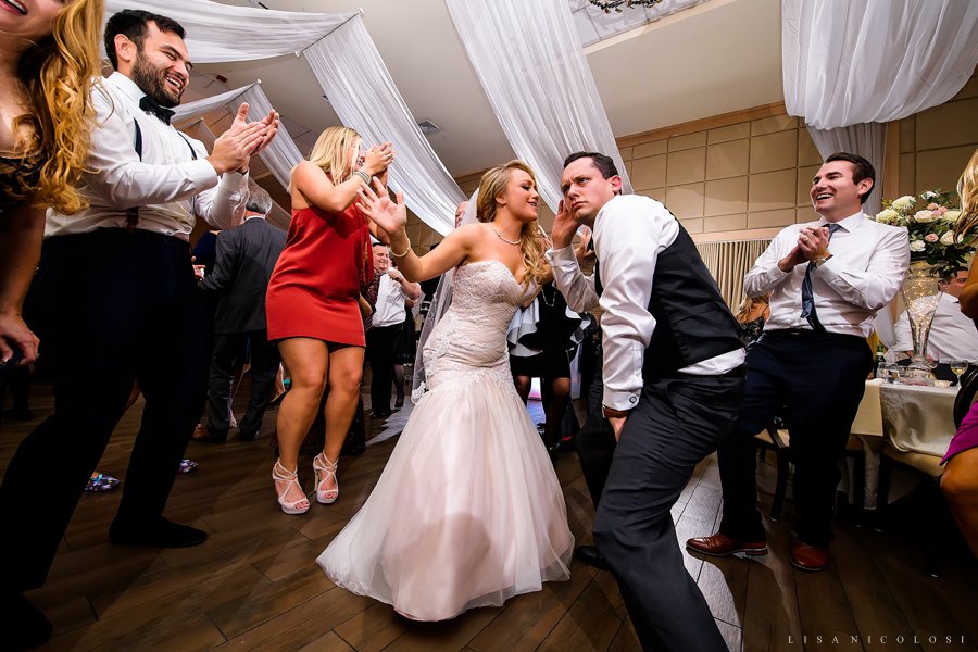 NJ Wedding Photographer at The Madison - Wedding Reception - Bride and Groom Dancing - NJ Cafe Madison Wedding