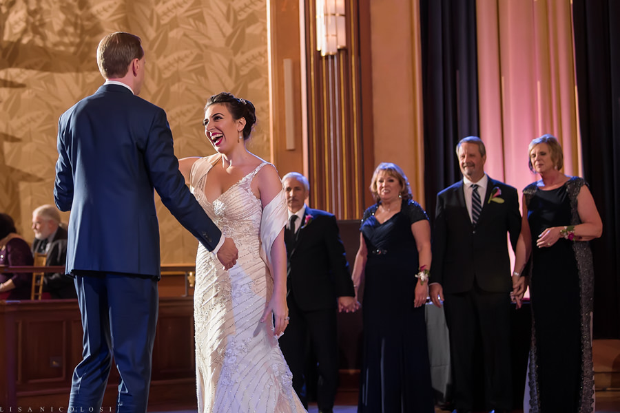 Suffolk Theater Wedding Photographer - North Fork Wedding Photographer - Wedding Reception - First Dance