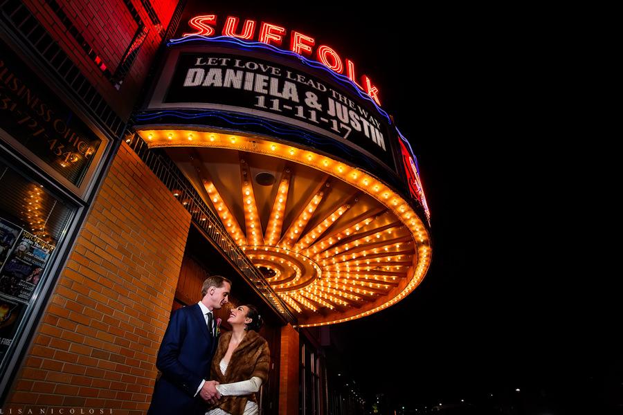 Suffolk Theater Wedding Photographer - Bride and Groom Wedding Portraits - North Fork Wedding Photography