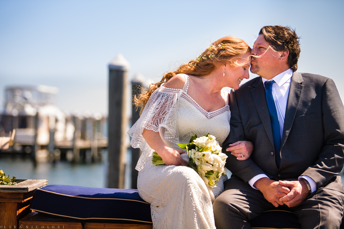 Montauk Yacht Club wedding - bride and groom portraits - Montauk wedding Photographer