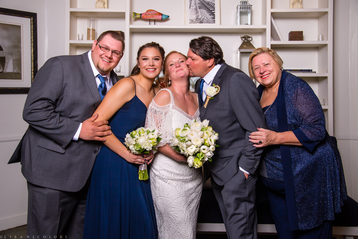 Montauk Yacht Club wedding - Montauk wedding Photographer - Family Portrait