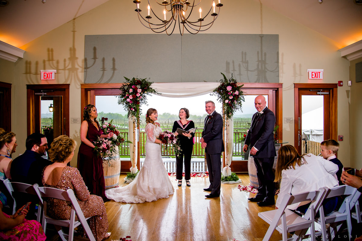 Macari Vineyard Wedding Photography - North Fork Wedding Photographer- Wedding Ceremony