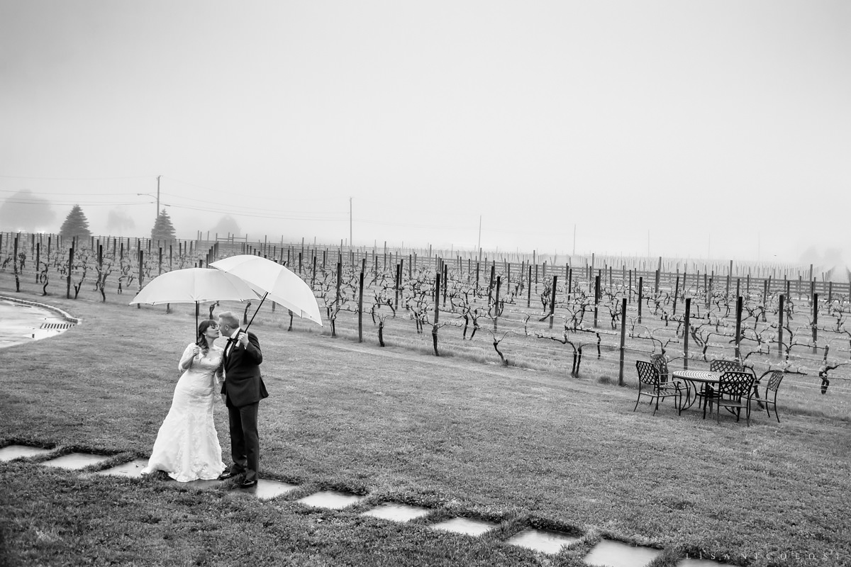 Macari Vineyard Wedding Photography - North Fork Wedding Photographer - Rainy day wedding