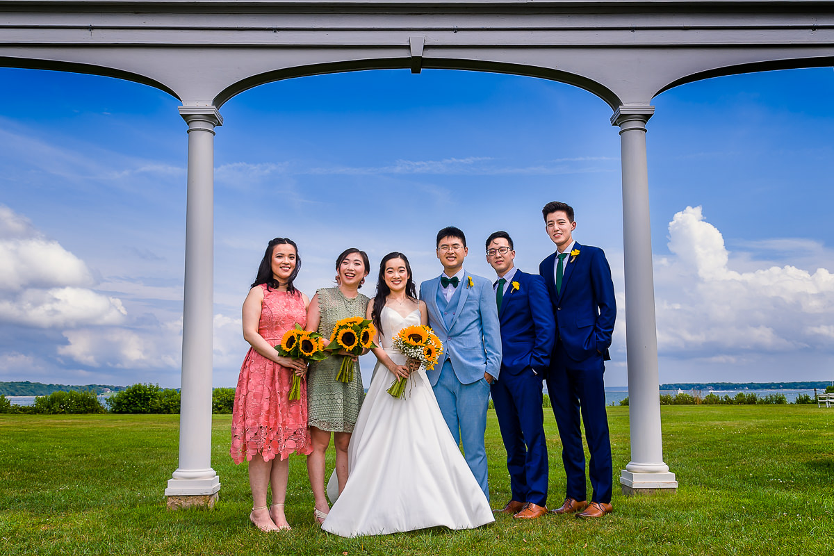 Wedding Photography at The Old Field Vineyard - Best Long Island Wedding Photographer - Bridal Party