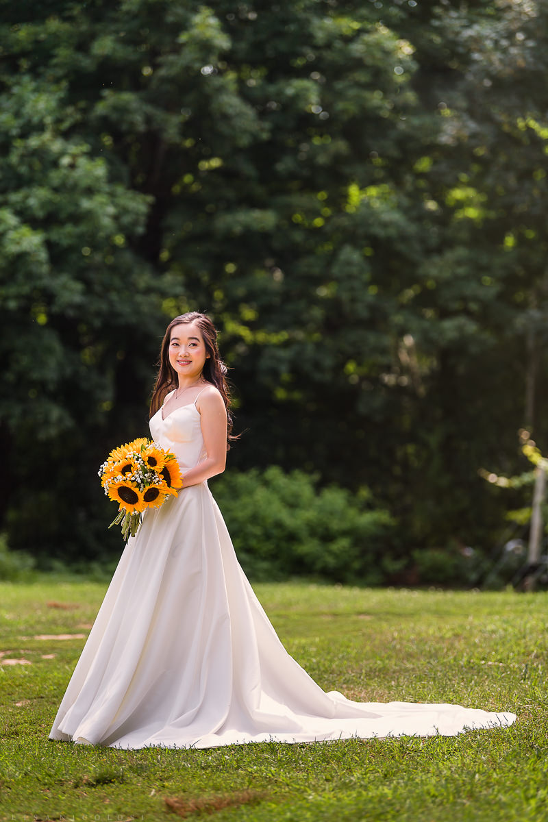 Wedding at The Old Field Vineyard - Long Island Wedding Photographer - Bride Portrait