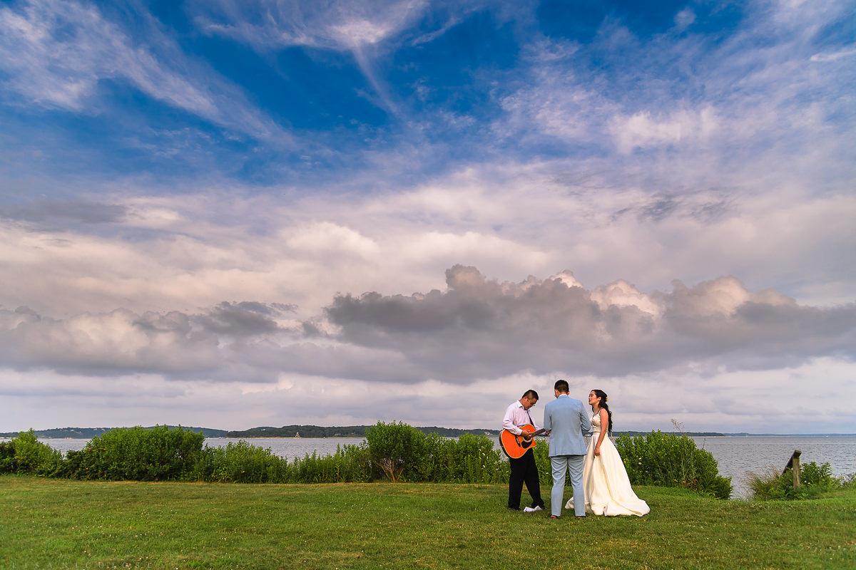 Wedding at The Old Field Vineyard -North Fork Wedding Ceremony - Best Long Island Photographer
