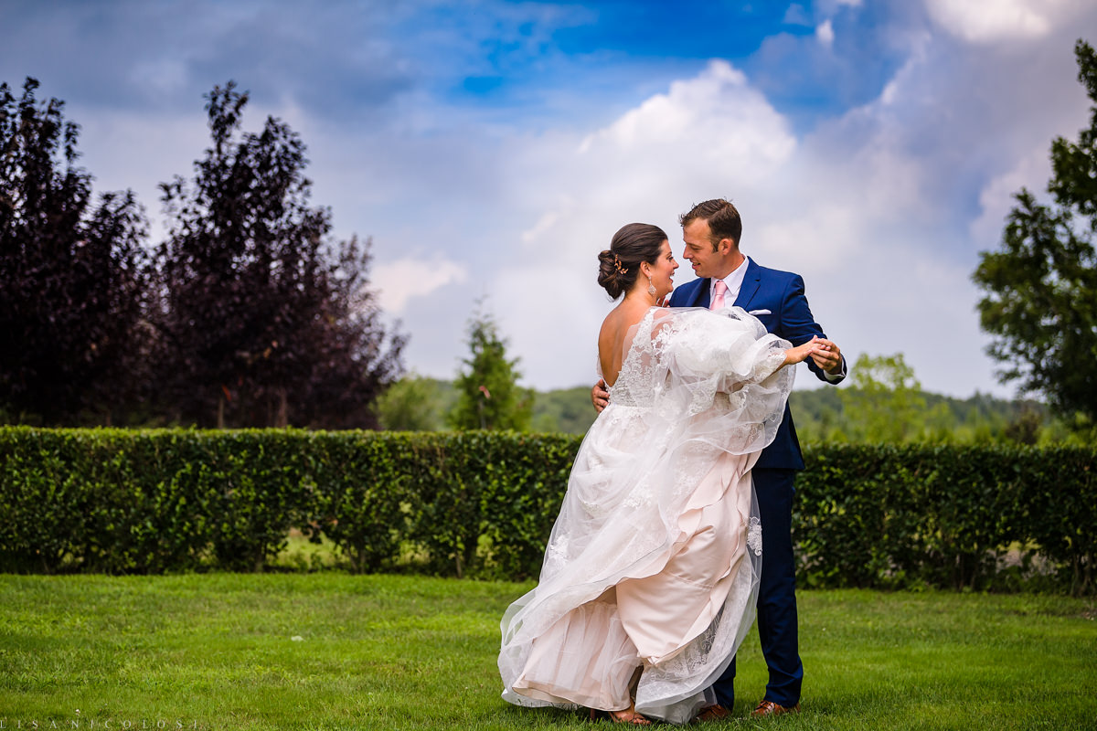 Wedding at Jamesport Manor Inn - Romantic Bride and groom wedding portrait - North Fork Wedding Photographer