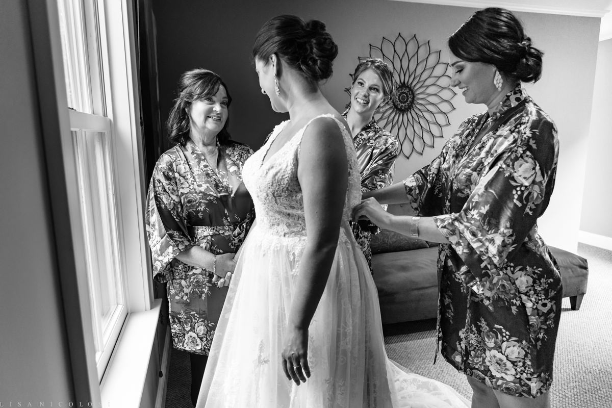 Wedding at Jamesport Manor Inn - Bride getting ready - North Fork Wedding Photographer