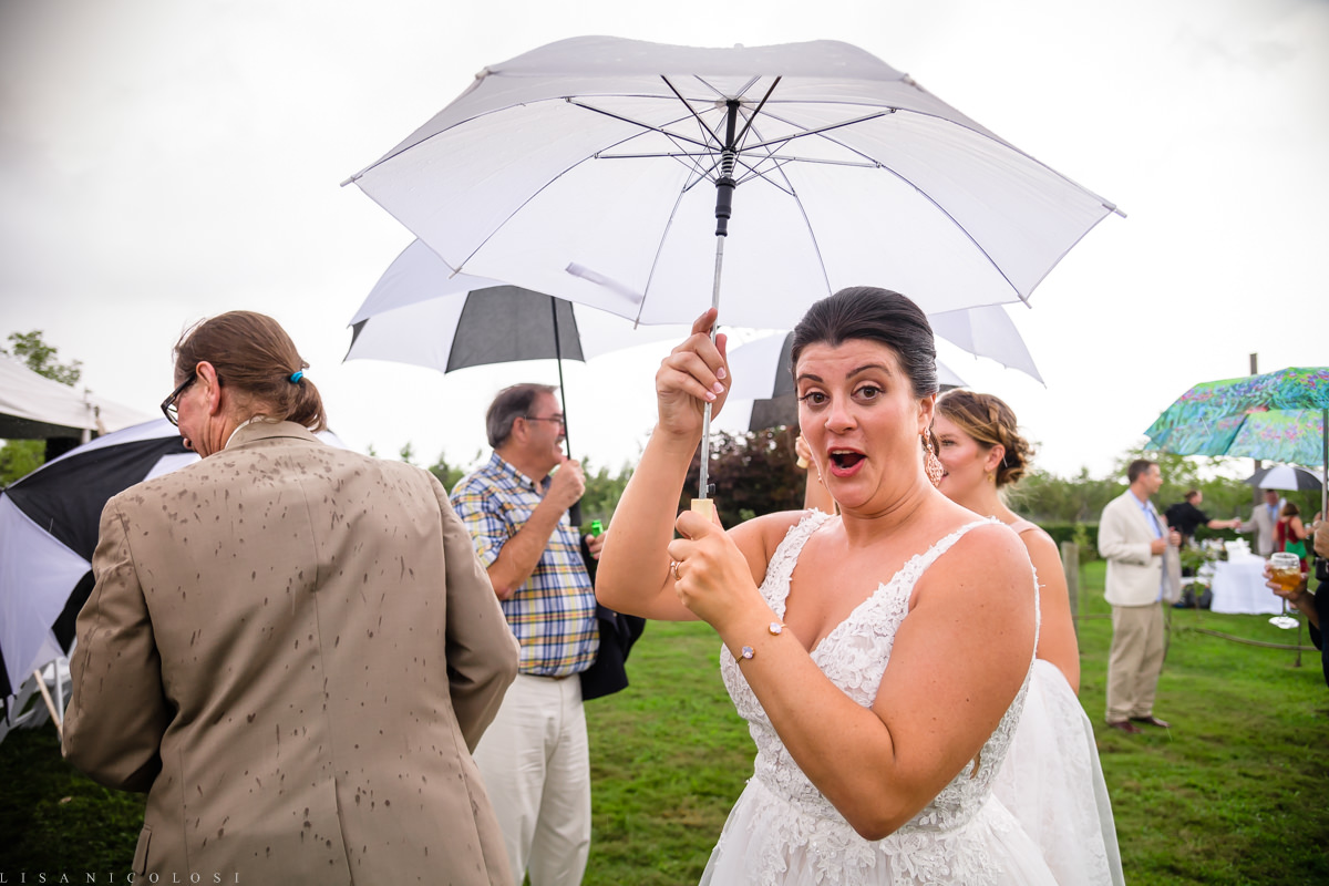 Wedding at Jamesport Manor Inn - Wedding Ceremony - North Fork Wedding Photographer - Rainy Wedding