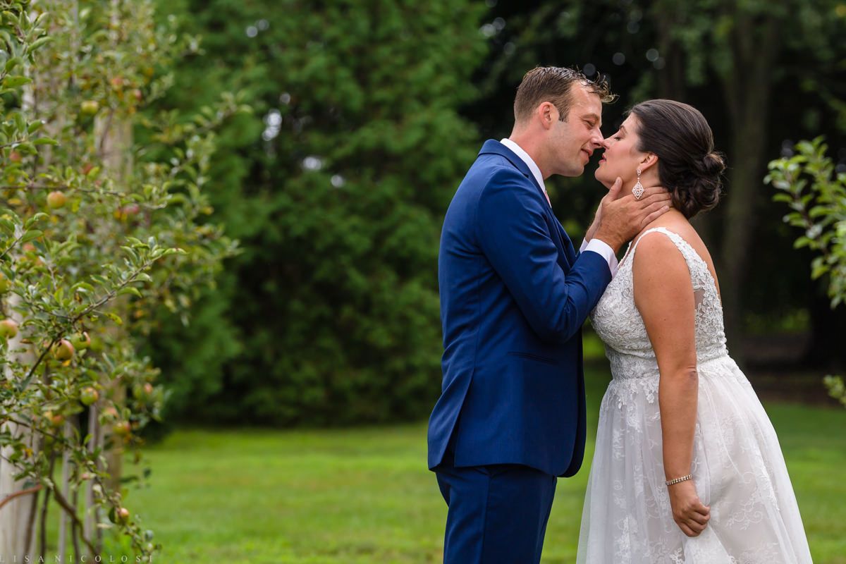 Wedding at Jamesport Manor Inn - Bride and groom first look - North Fork Wedding Photographer