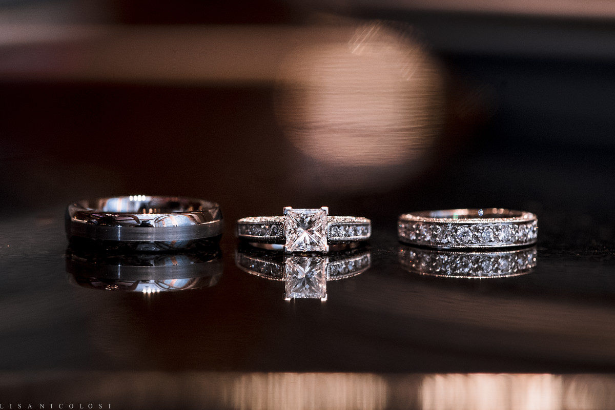 Wedding at The Larkfield - Long Island Wedding Photographer - Bride and groom wedding rings