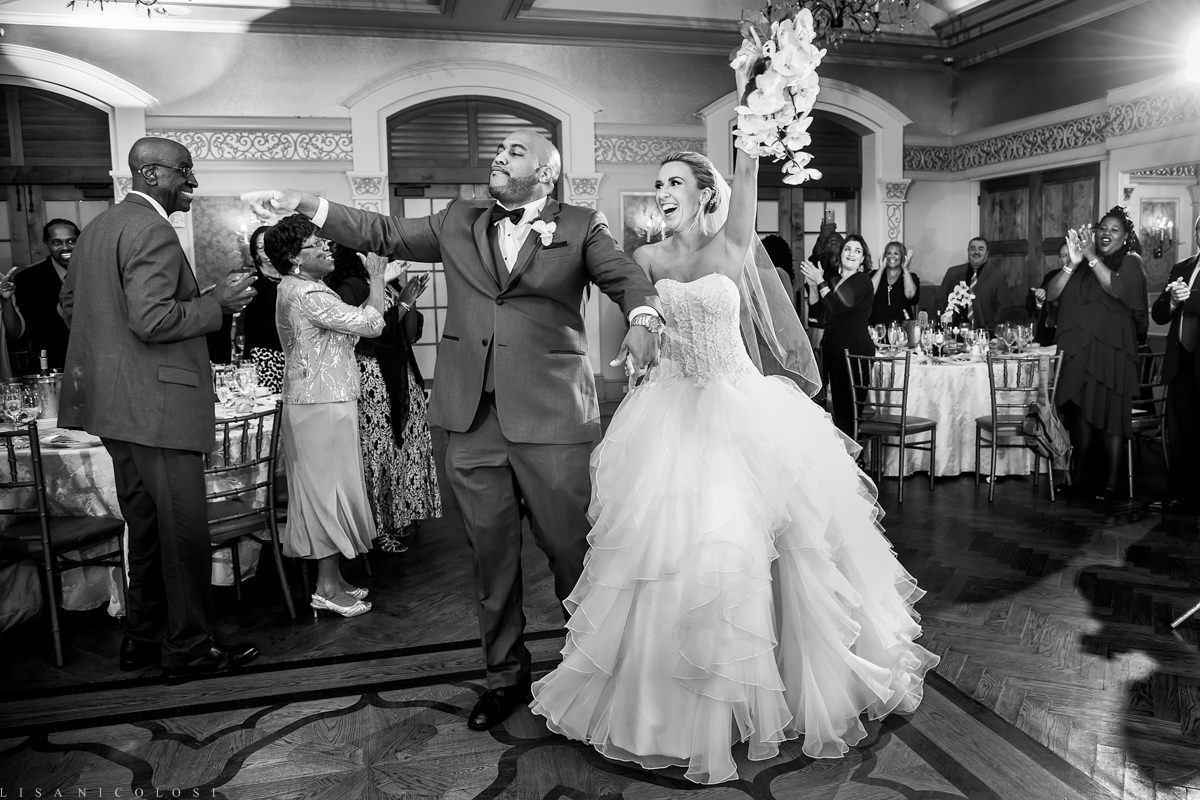 Wedding at The Larkfield - Long Island Wedding Photographer - Wedding Reception - Bride and groom dancing