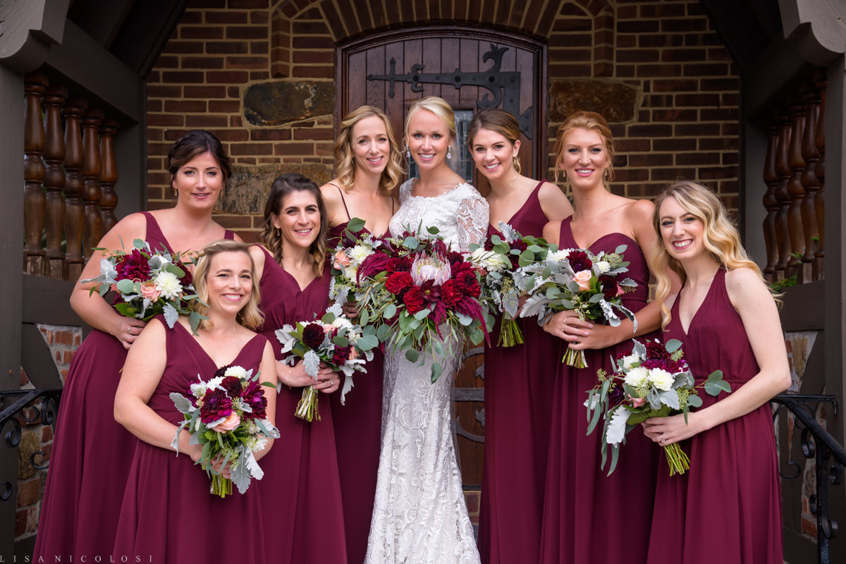 North Fork Weddings - North Fork Wedding Photographer - Bridal Party -Our Lady of Good Counsel Church Wedding - Mattituck Wedding Ceremony