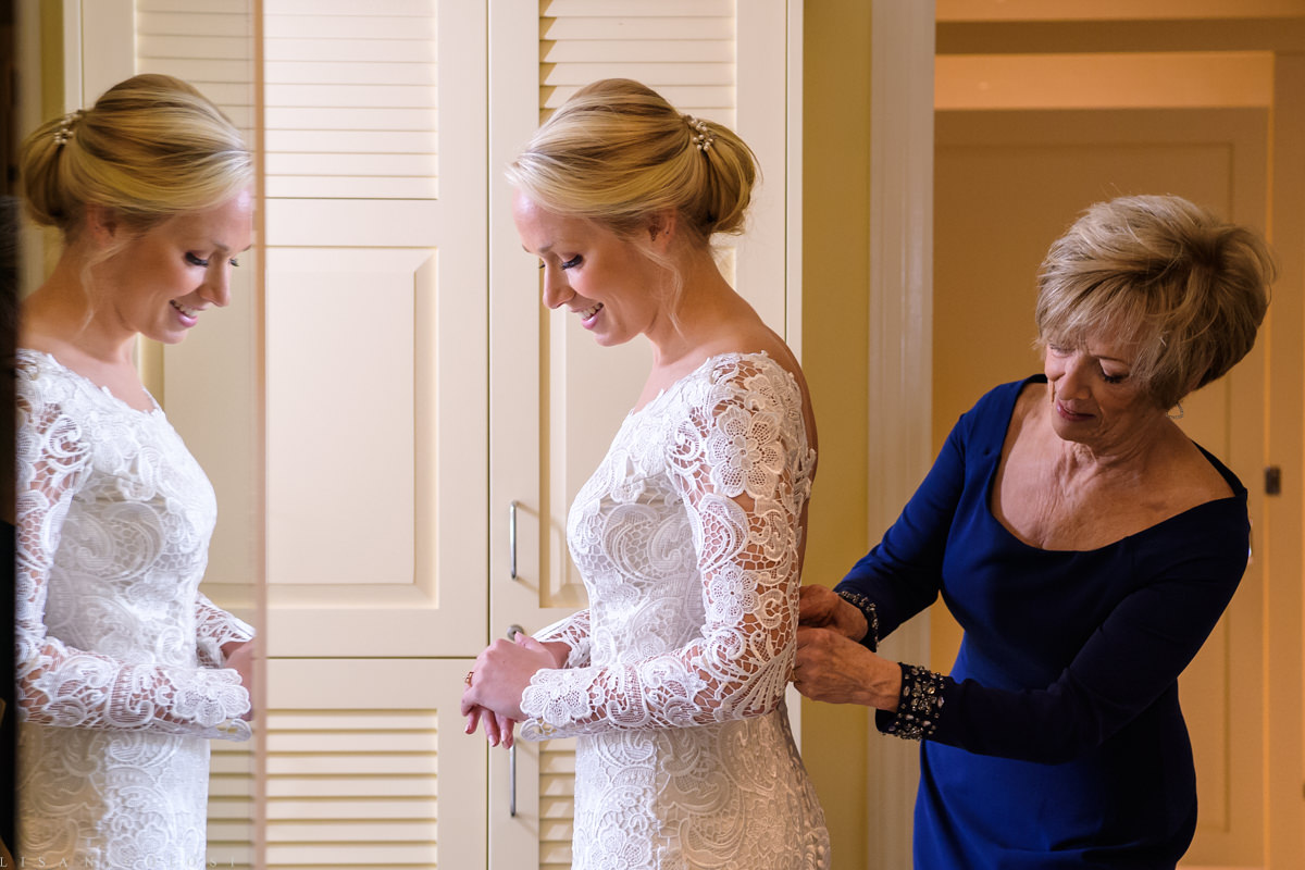 Wedding at The North Fork Country Club - Bride and Mom getting ready - North Fork Wedding Photographer - North Fork Weddings |