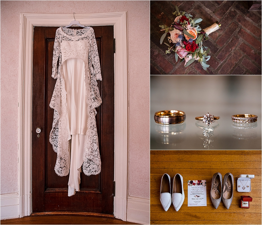 Wedding at Chateau at Coindre Hall - Long Island Wedding Photographers - Bride getting ready