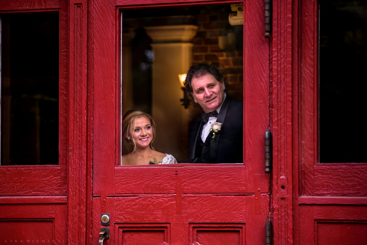 Wedding at Chateau at Coindre Hall - Long Island Wedding Photographers - bride's first look with her father