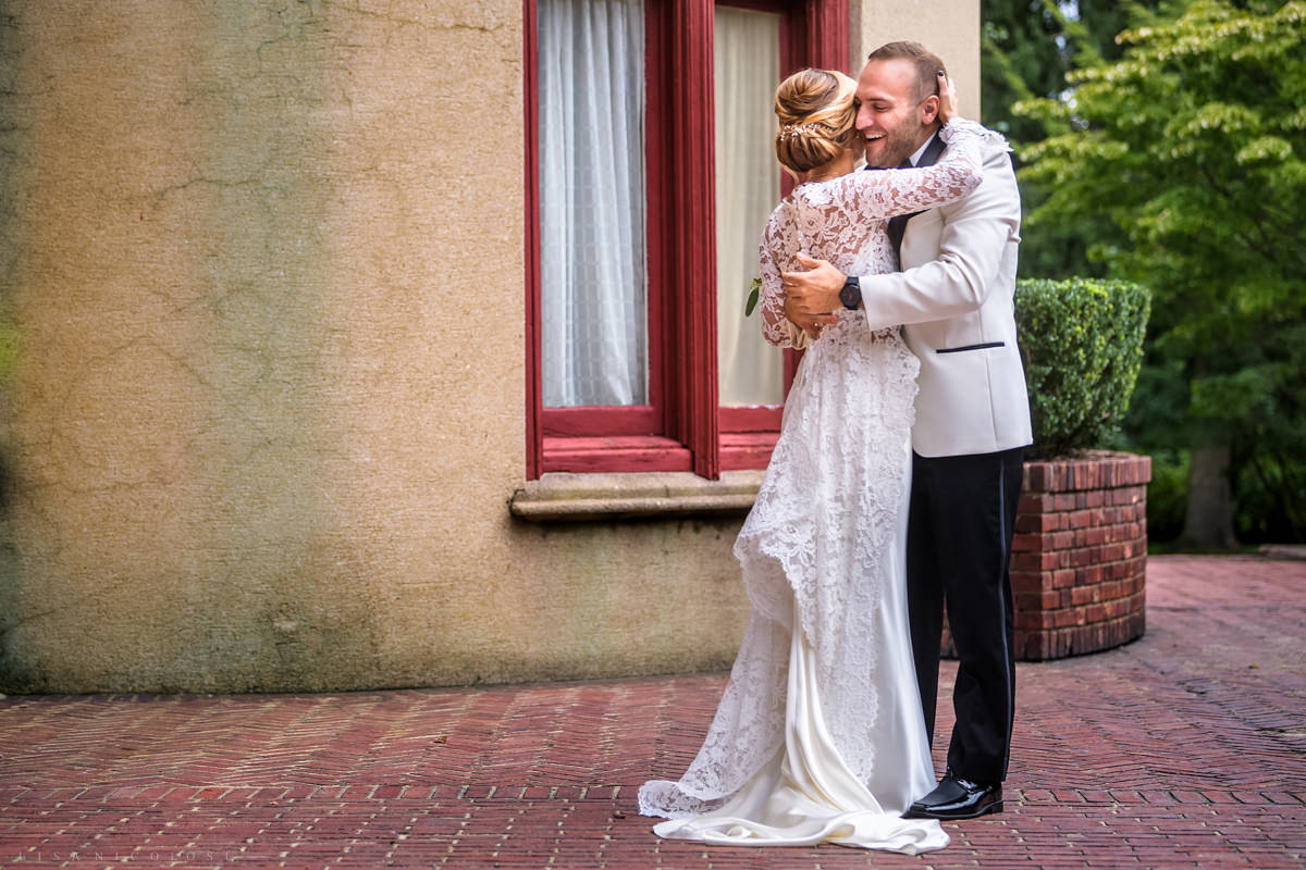 Wedding at Chateau at Coindre Hall - Long Island Wedding Photographers - bride and groom first look