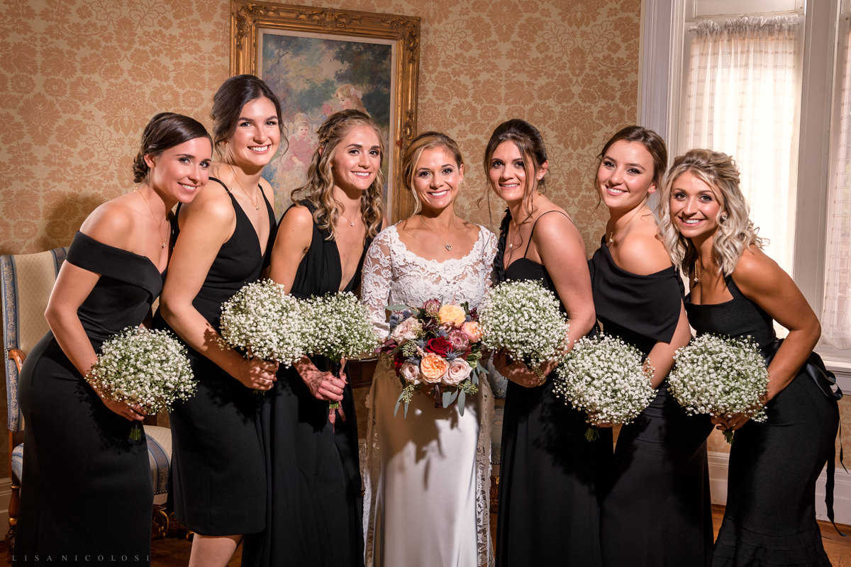 Wedding at Chateau at Coindre Hall - Long Island Wedding Photographers - bride and bridesmaids