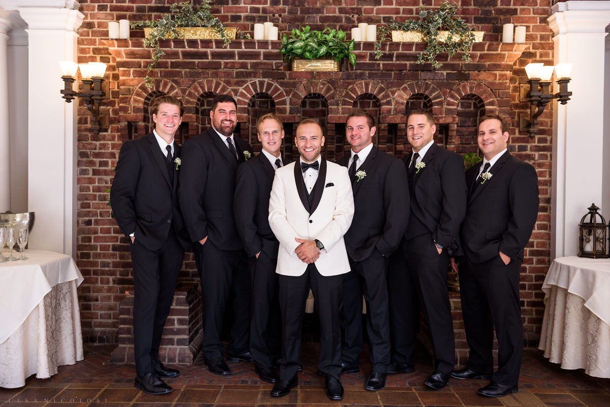 Wedding at Chateau at Coindre Hall - Long Island Wedding Photographers - groom and groomsmen