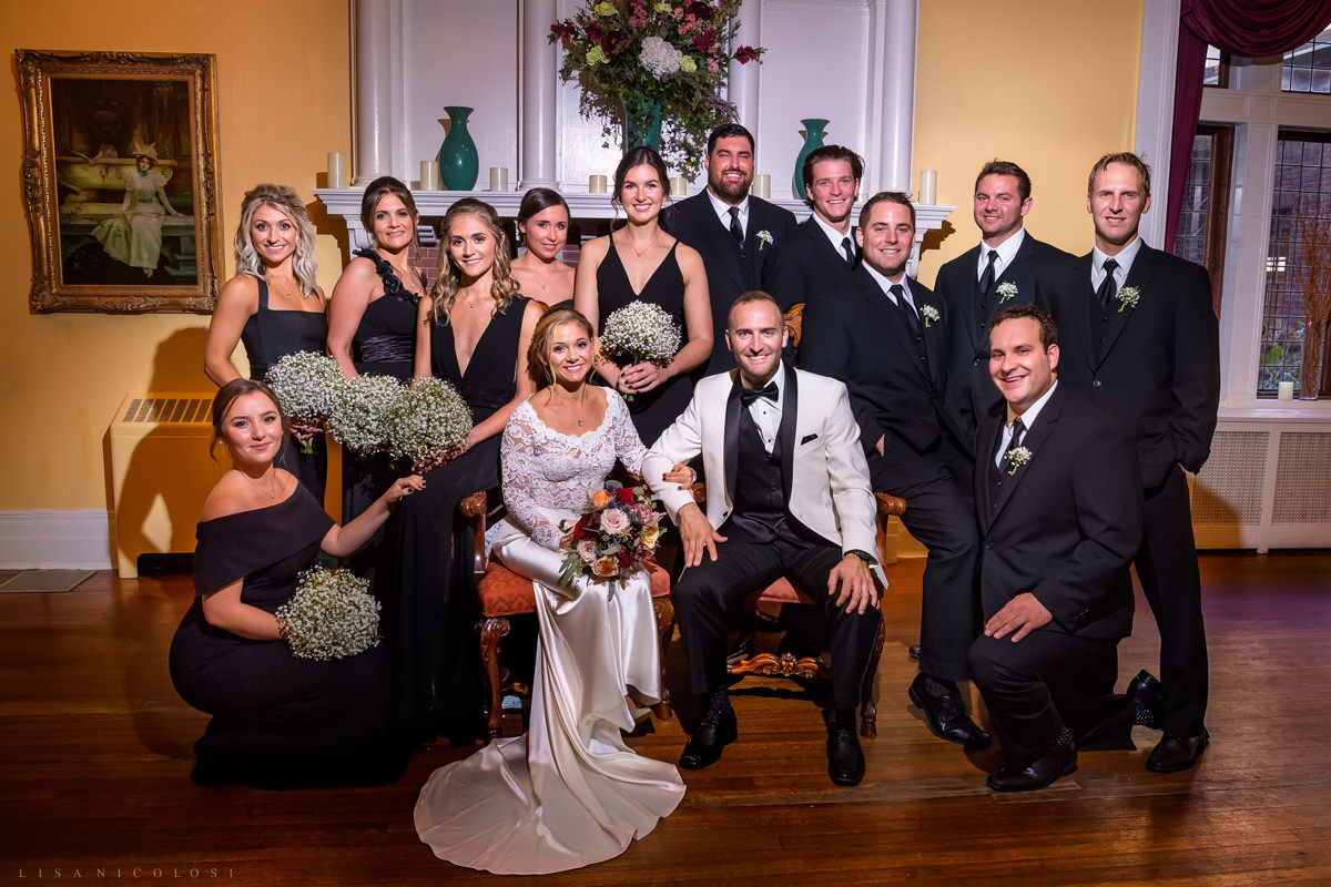 Wedding at Chateau at Coindre Hall - Long Island Wedding Photographers - bridal party