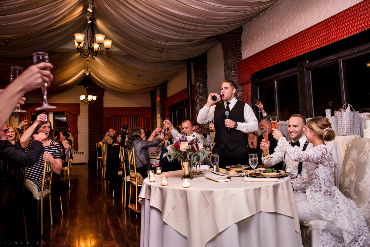 Wedding at Chateau at Coindre Hall - Long Island Wedding Photographers - Bride and Groom Speeches