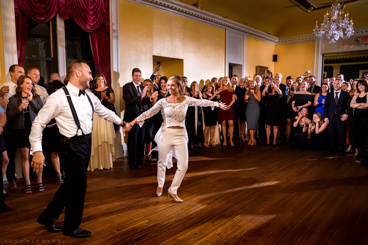 Wedding at Chateau at Coindre Hall - Long Island Wedding Photographers - Reception First Dance